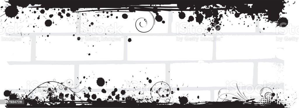 Grunge brick wall banner royalty-free stock vector art