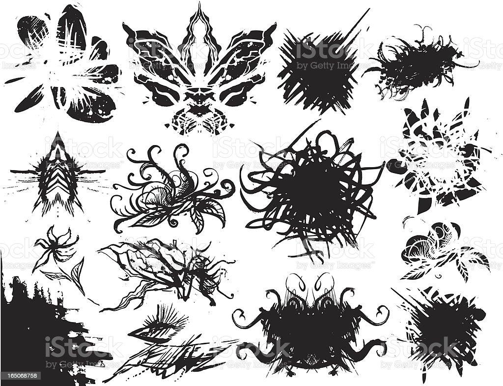 Grunge Pinsel Freistil Lizenzfreies vektor illustration