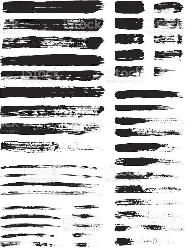 Grunge brush strokes royalty-free stock vector art