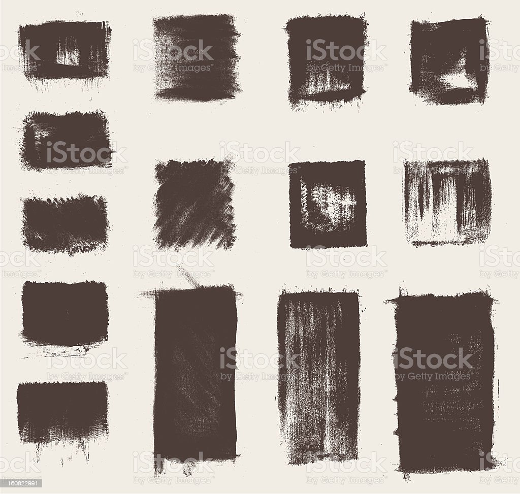 grunge brushes collection royalty-free stock vector art