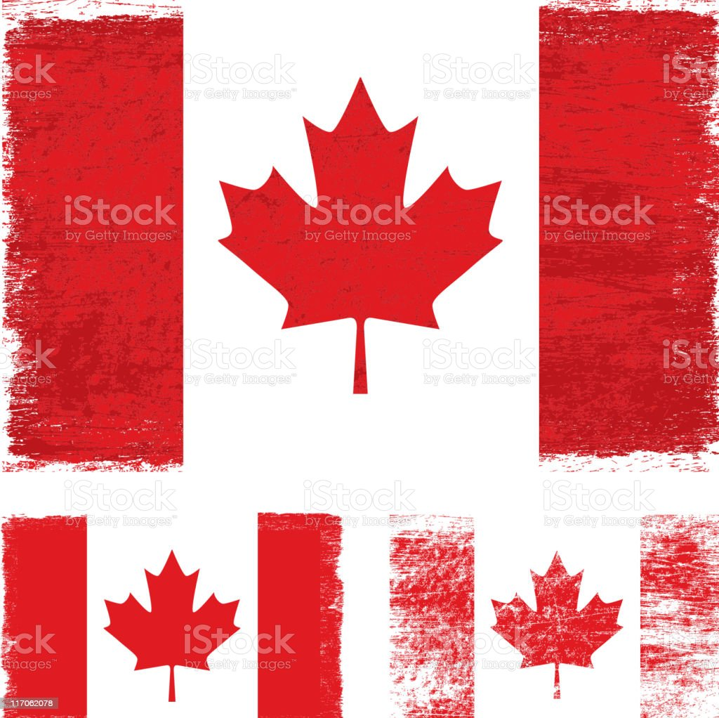 Grunge Canada flag royalty-free stock vector art