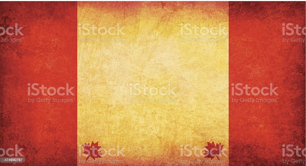 Grunge Canada Mapn Theme Background royalty-free stock vector art