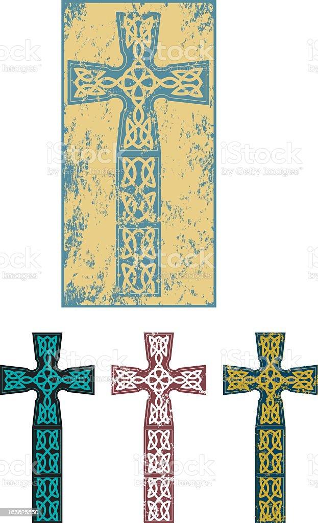 Grunge Celtic cross royalty-free stock vector art