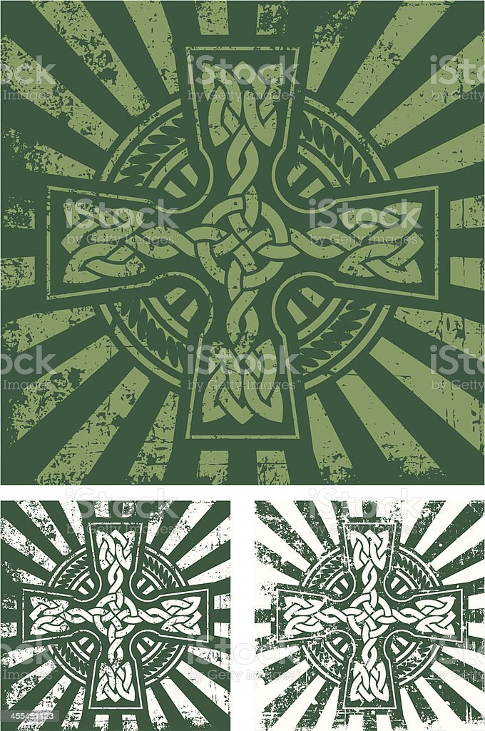 grunge celtic cross royalty-free stock vector art