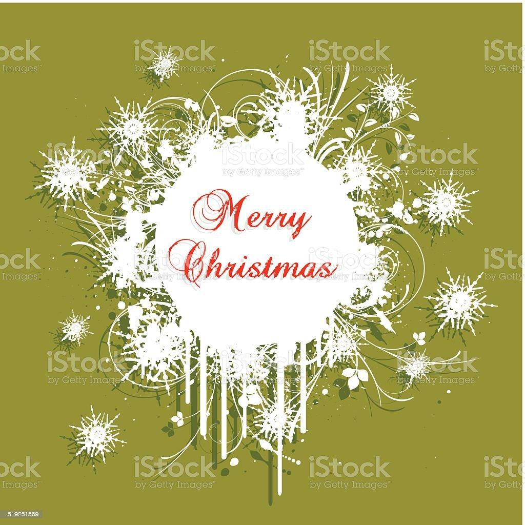 Grunge Christmas background vector art illustration