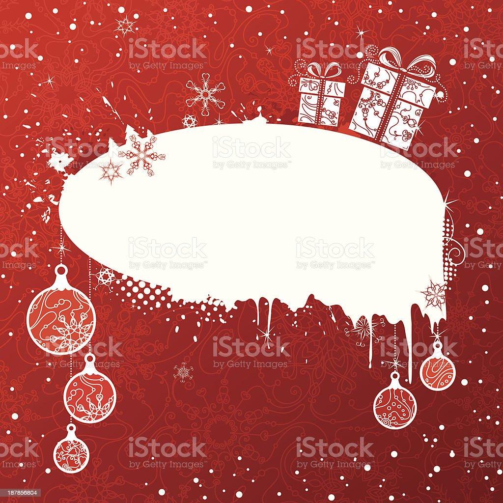 Grunge Christmas banner royalty-free stock vector art