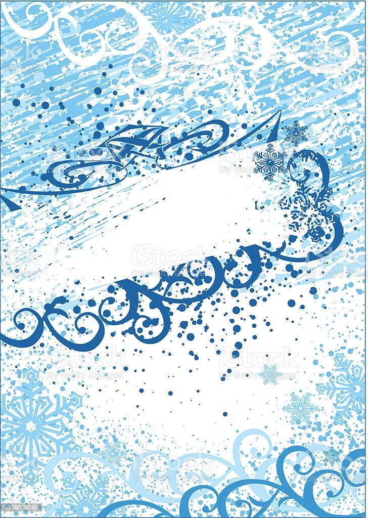 grunge christmas frame & background / vector royalty-free stock vector art