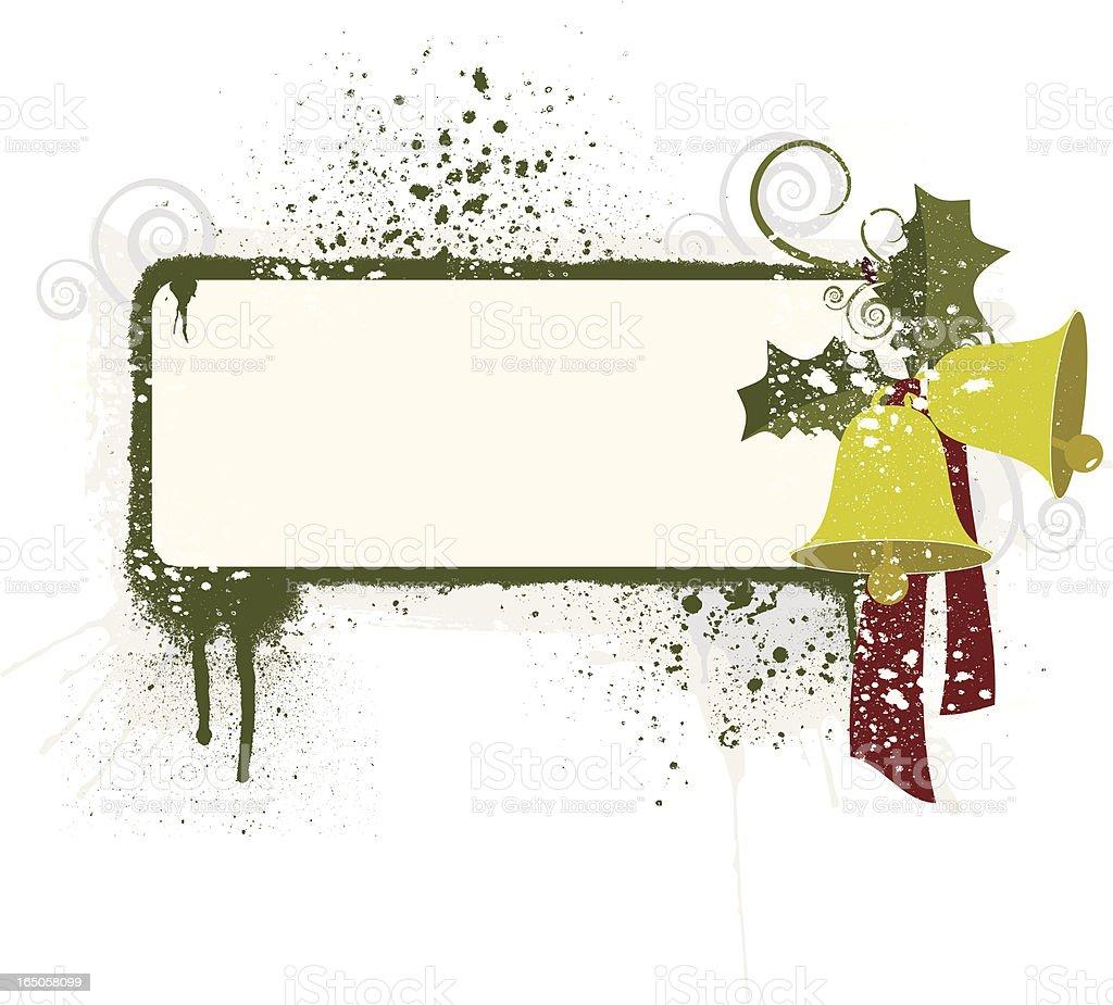 Grunge christmas frame royalty-free stock vector art
