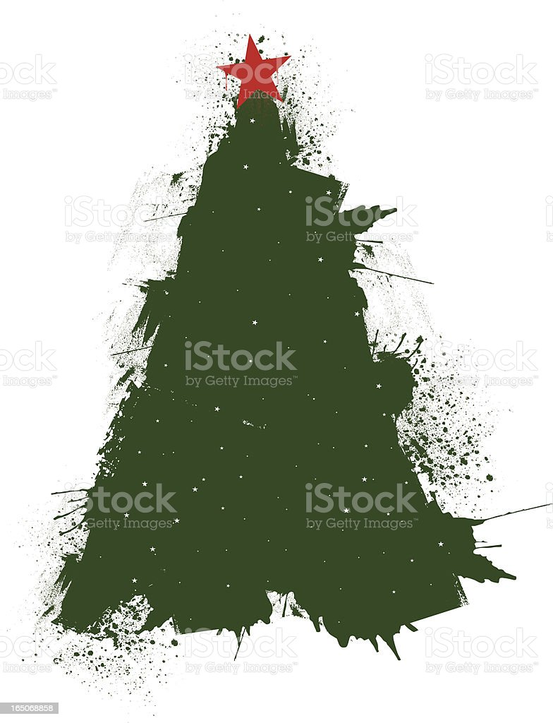 grunge christmas tree royalty-free stock vector art