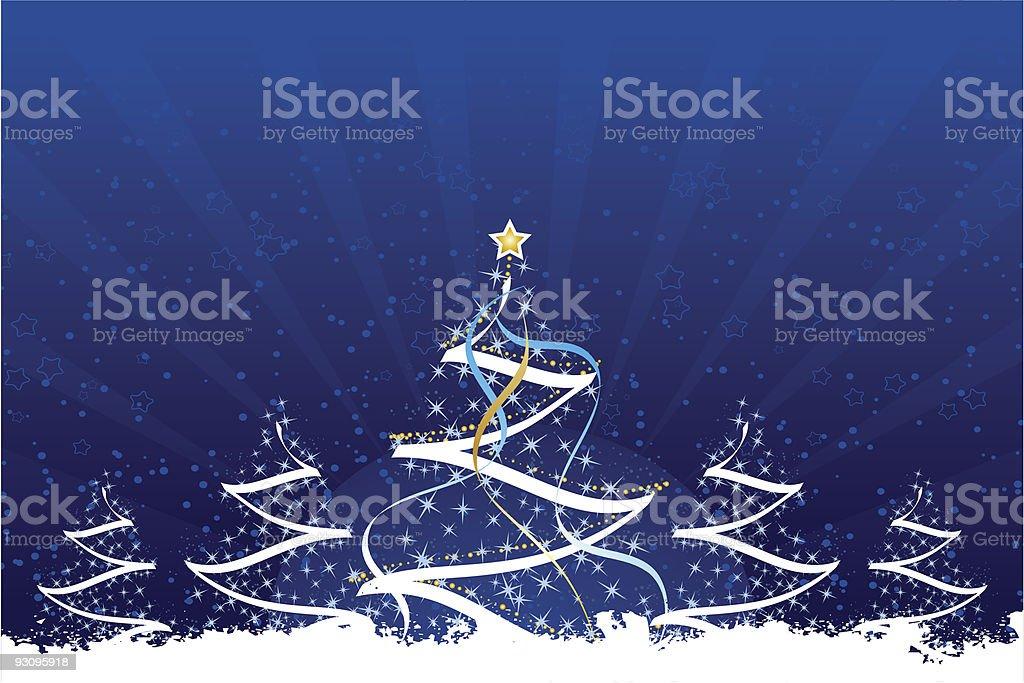 Grunge Christmas trees royalty-free stock vector art