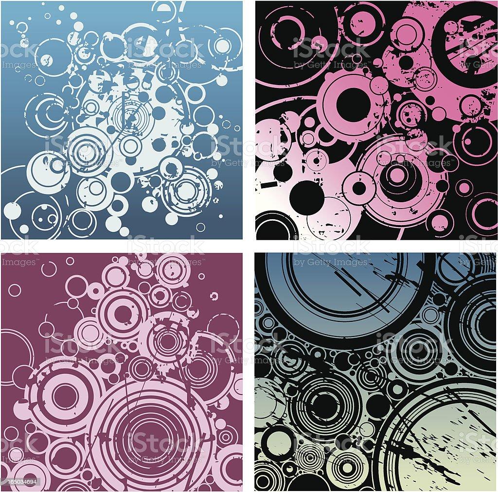 Grunge Circles 2 royalty-free stock vector art