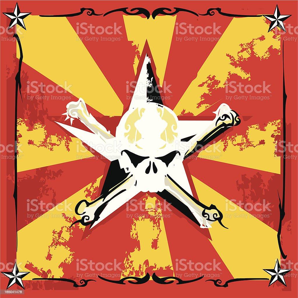 grunge circus skull royalty-free stock vector art