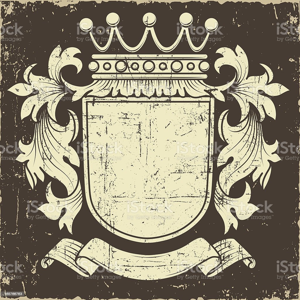 Grunge Coat of Arms royalty-free stock vector art