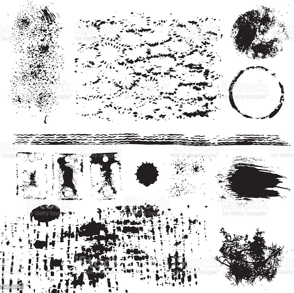 Grunge collection elements vector art illustration