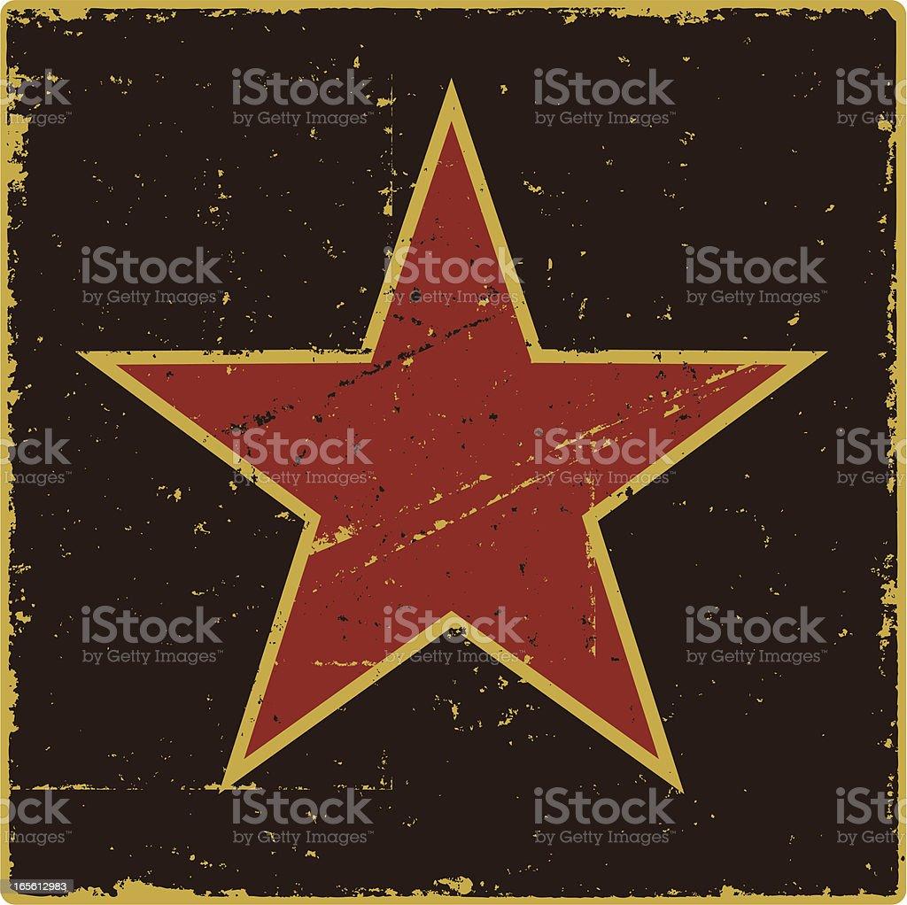 Grunge Communist Star royalty-free stock vector art