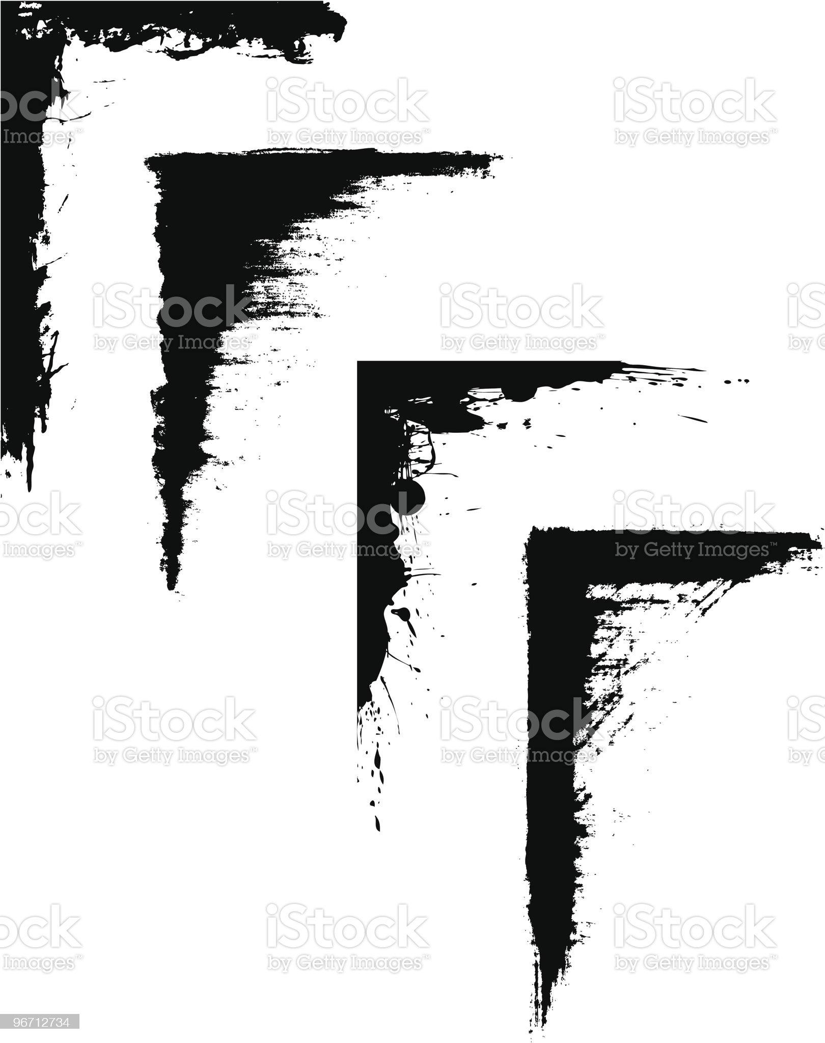 Grunge Corner Set royalty-free stock vector art