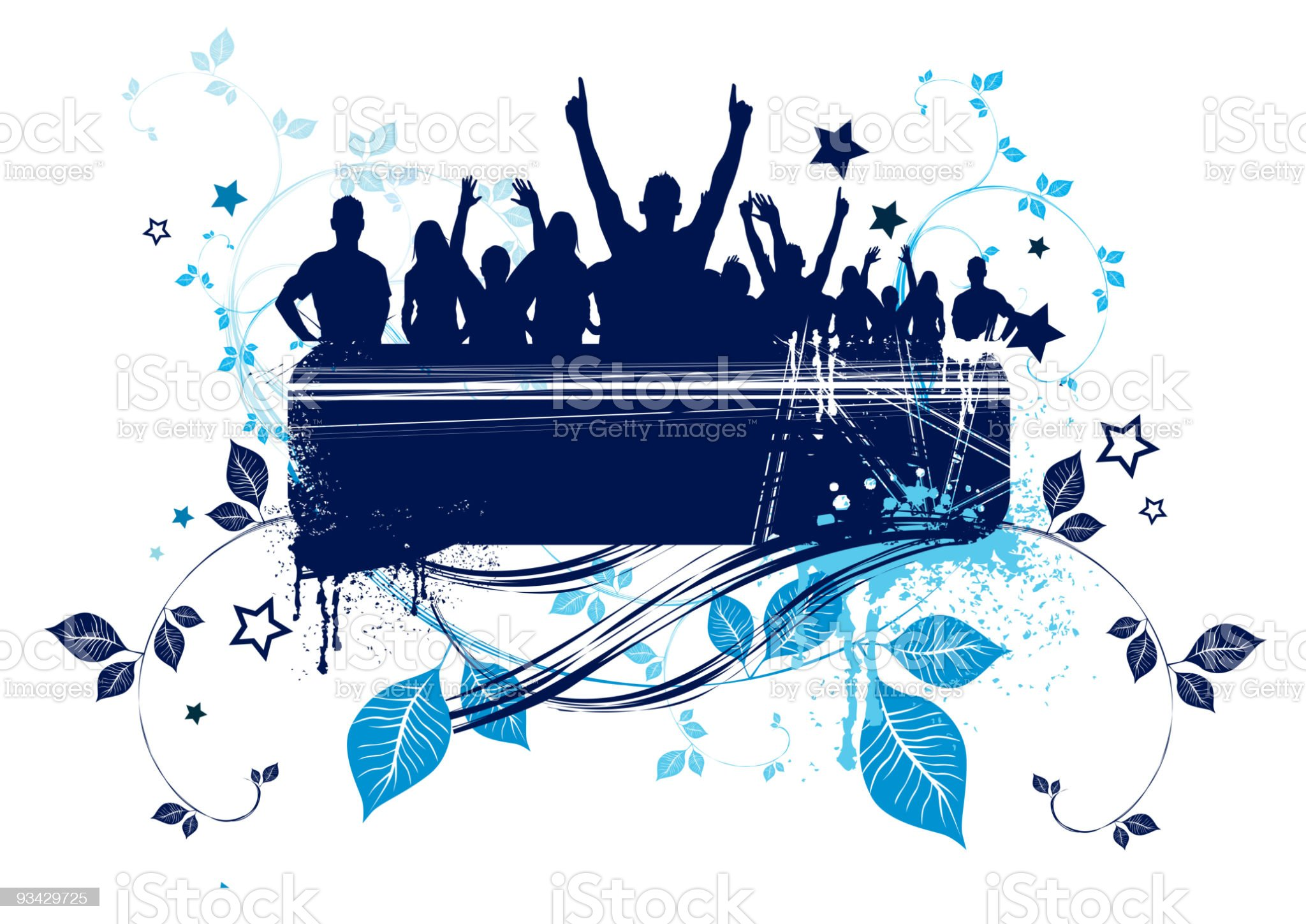 Grunge Crowd Design royalty-free stock vector art