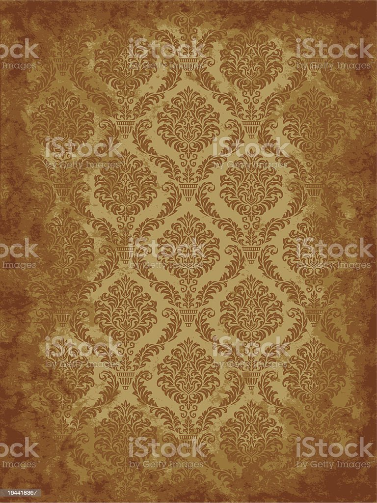 Grunge Damask Wallpaper royalty-free stock vector art