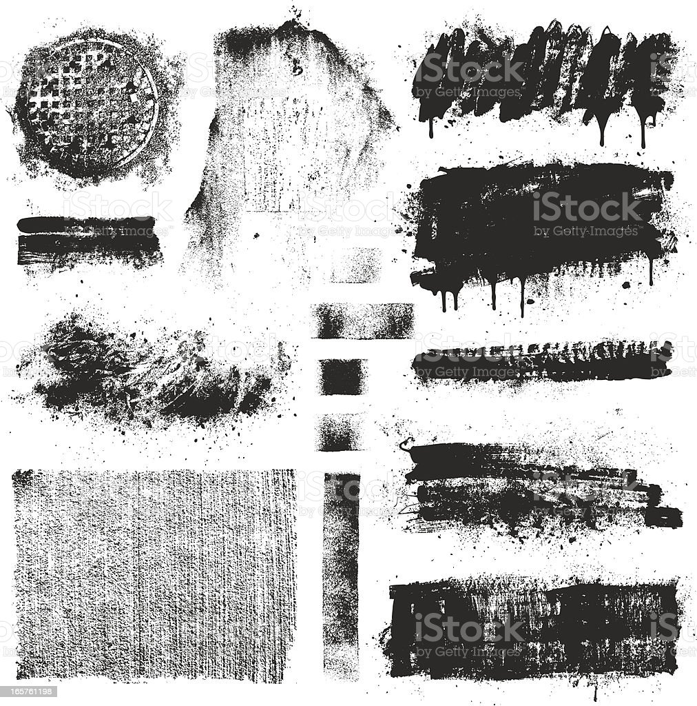 Grunge Design Elements royalty-free stock vector art