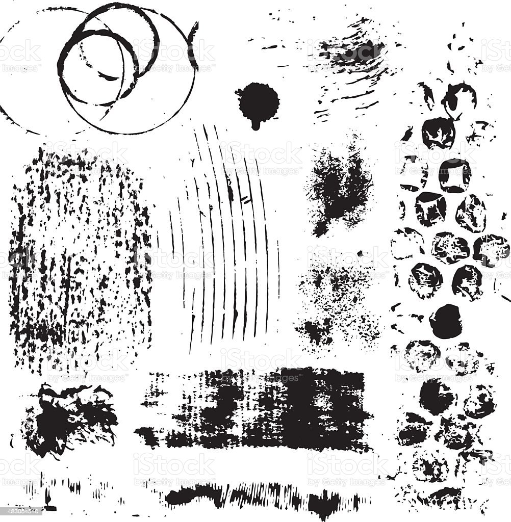 Grunge design elements vector art illustration
