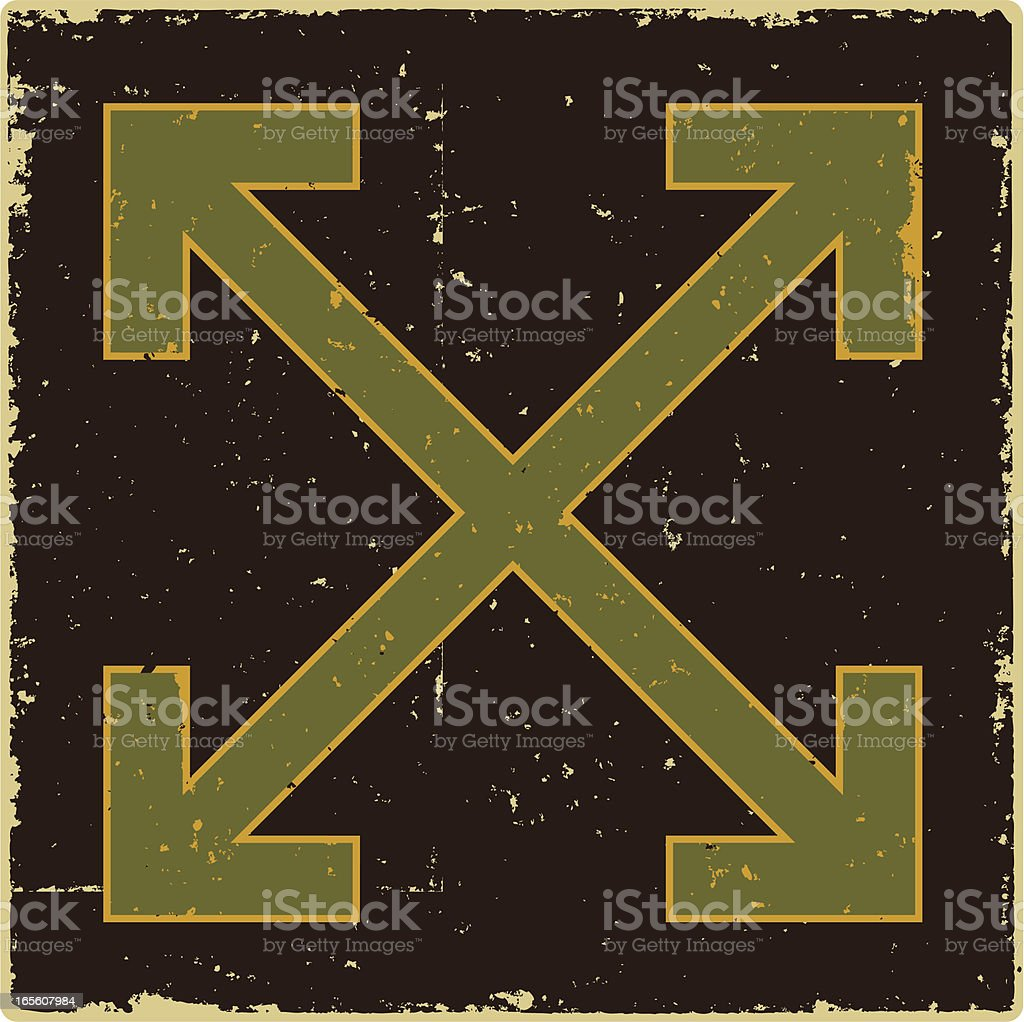Grunge Directional Arrows royalty-free stock vector art