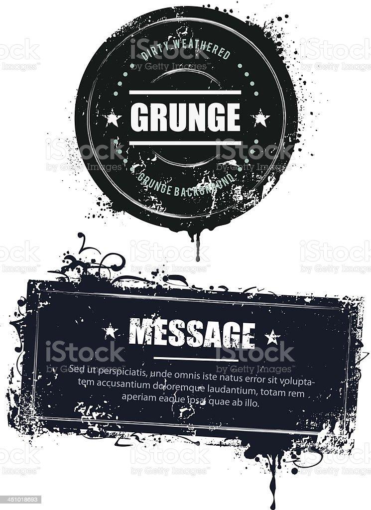 Grunge dirty banners vector art illustration