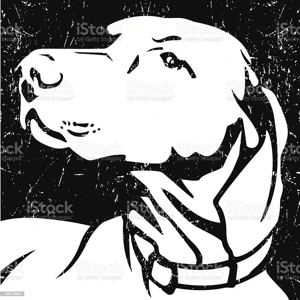 Grunge Dog Icon vector art illustration