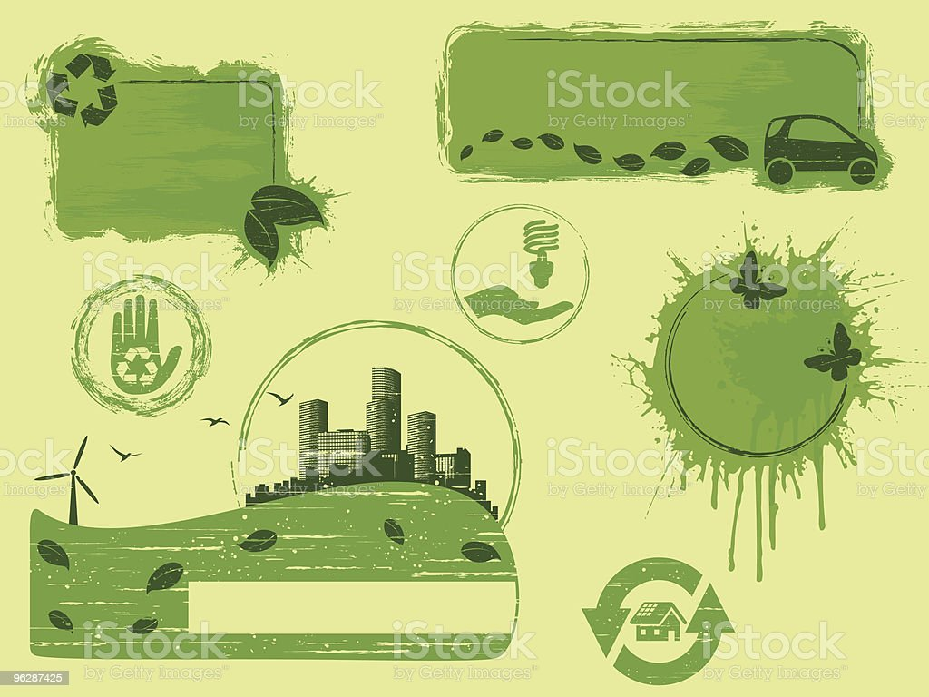 Grunge eco design elements royalty-free stock vector art