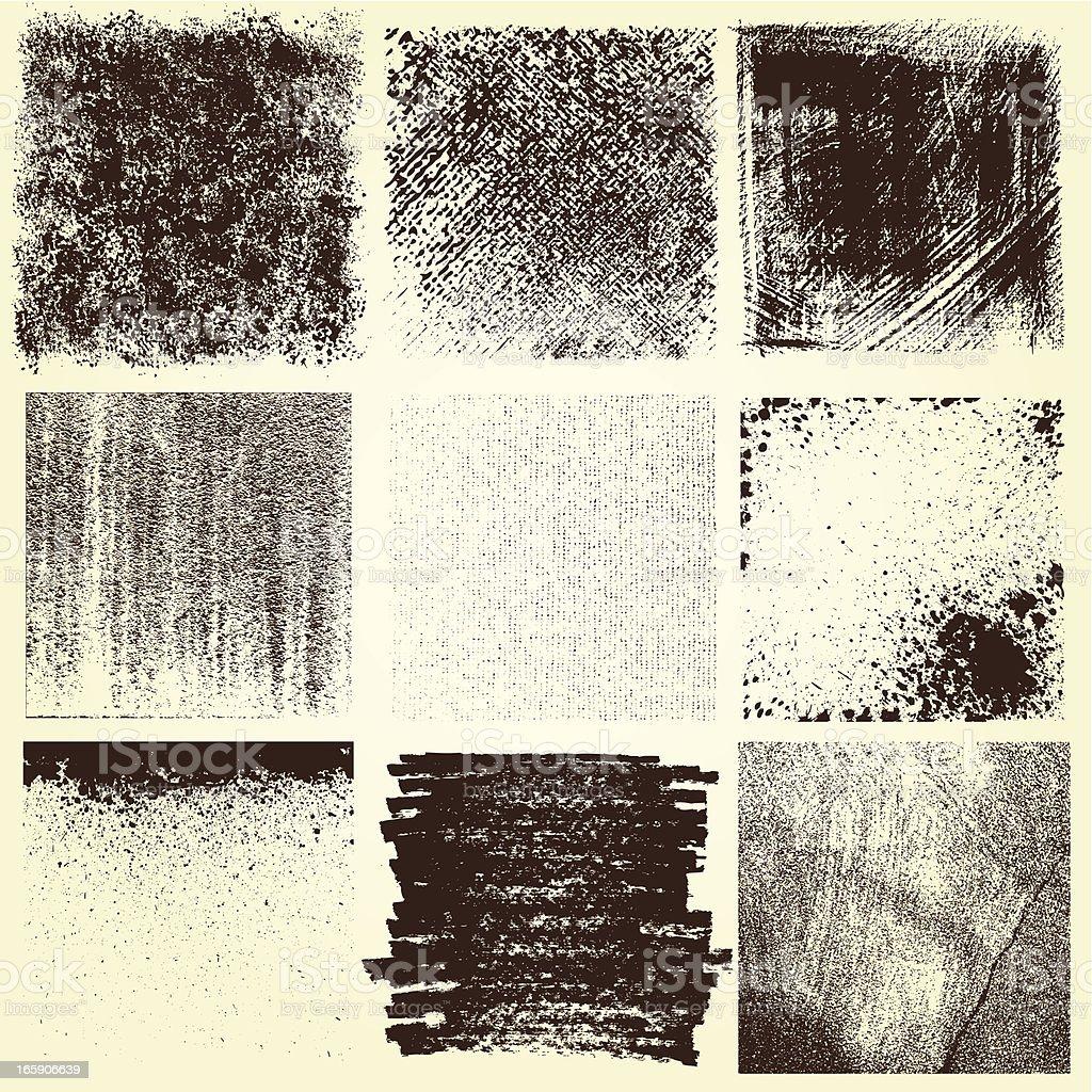 Grunge Elements Design vector art illustration