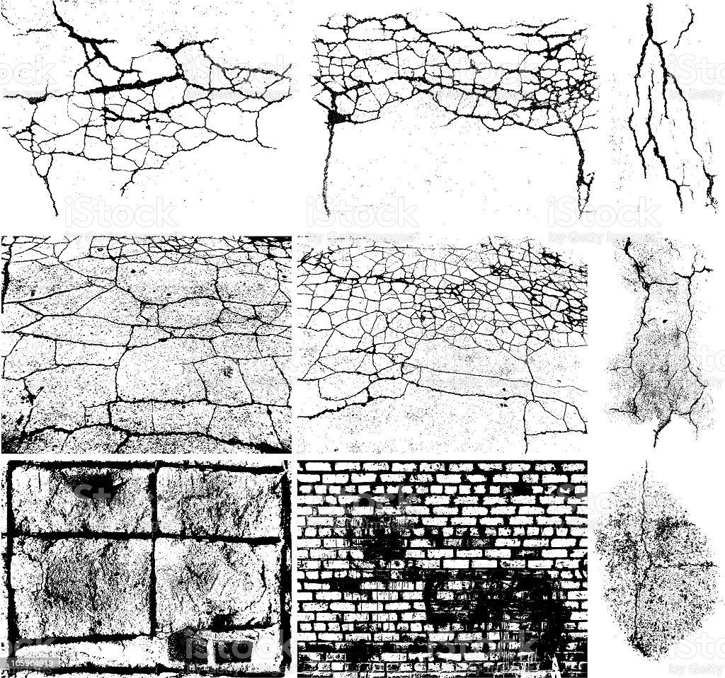 Grunge Elements Set vector art illustration