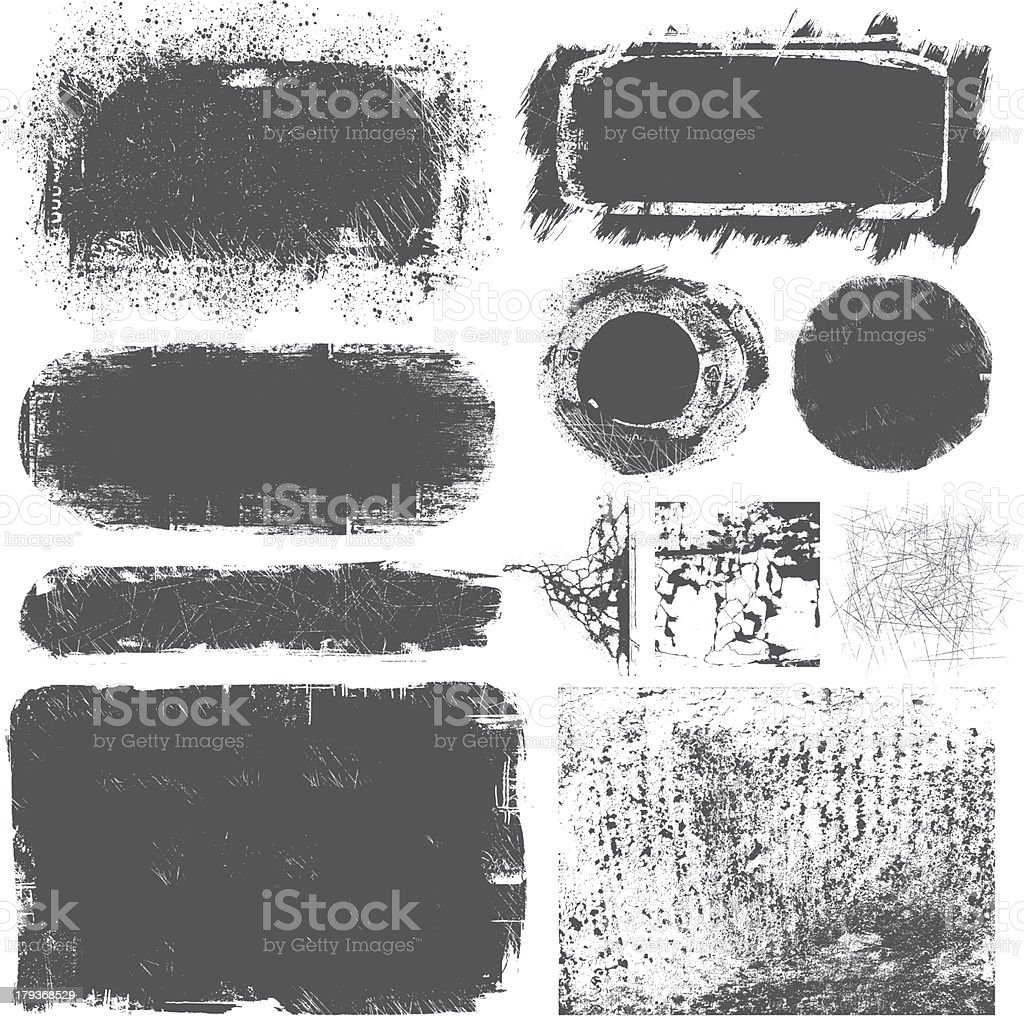Grunge Elements vector art illustration