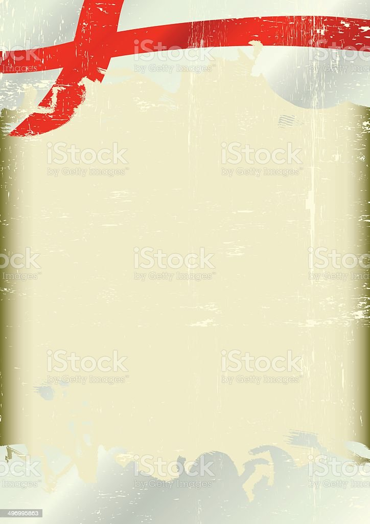 Grunge england flag vector art illustration