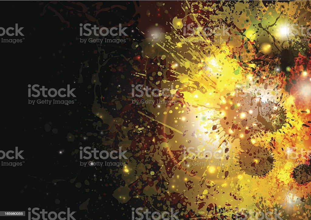 Grunge explosion vector art illustration