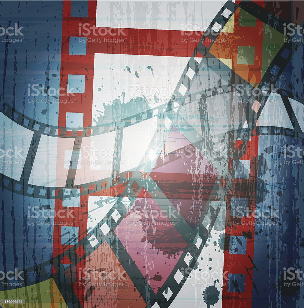 grunge film strip royalty-free stock vector art
