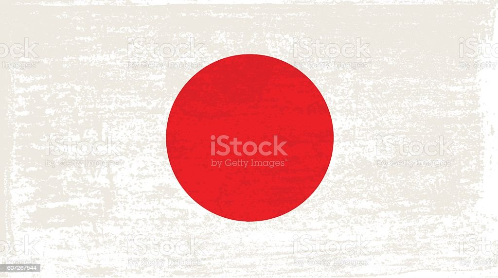 Grunge flag of Japan vector art illustration
