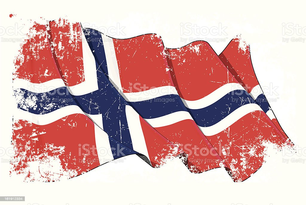 Grunge Flag of Norway royalty-free stock vector art