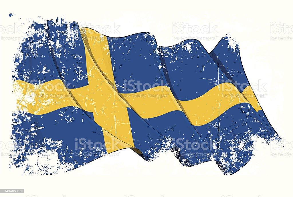 Grunge Flag of Sweden royalty-free stock vector art