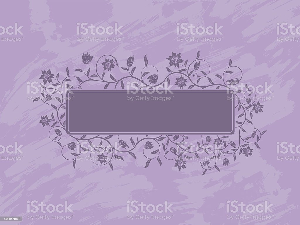 Grunge floral banner. royalty-free stock vector art