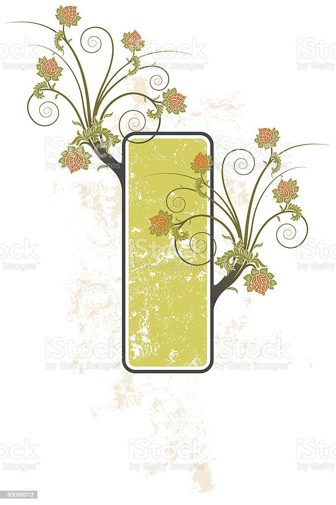 Grunge floral frame background royalty-free stock vector art