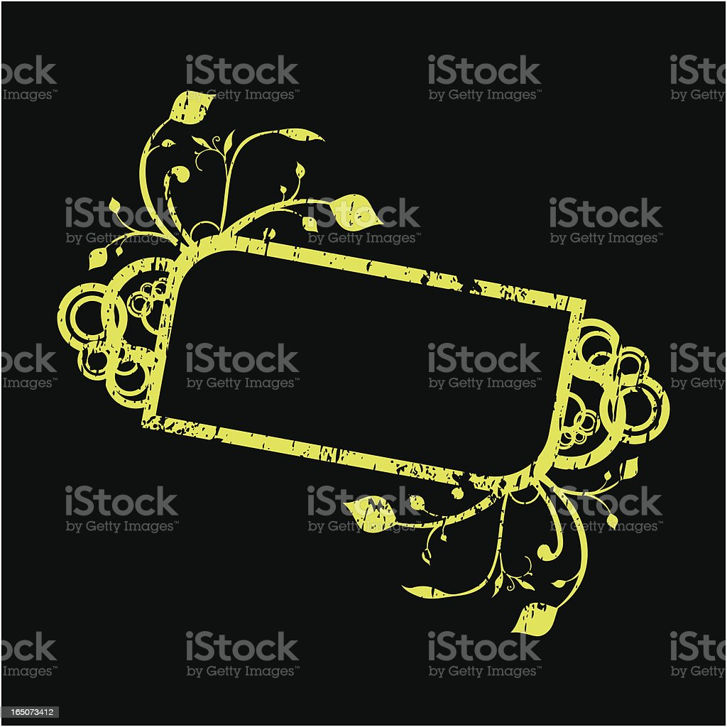 Grunge Floral Frame royalty-free stock vector art