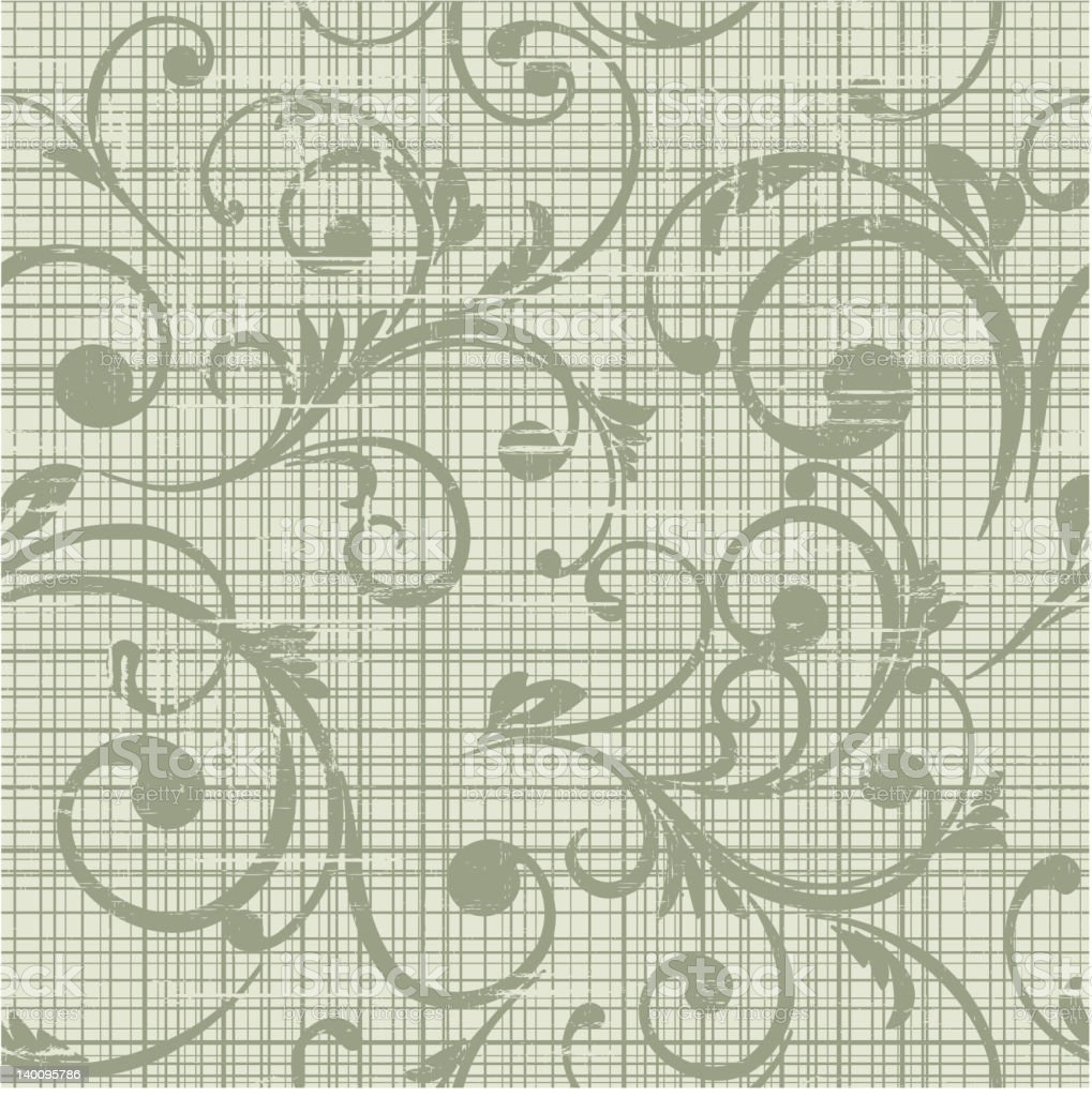 grunge floral seamless  background royalty-free stock vector art