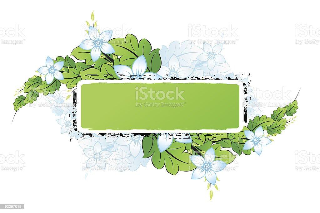 Grunge Flowers frame royalty-free stock vector art