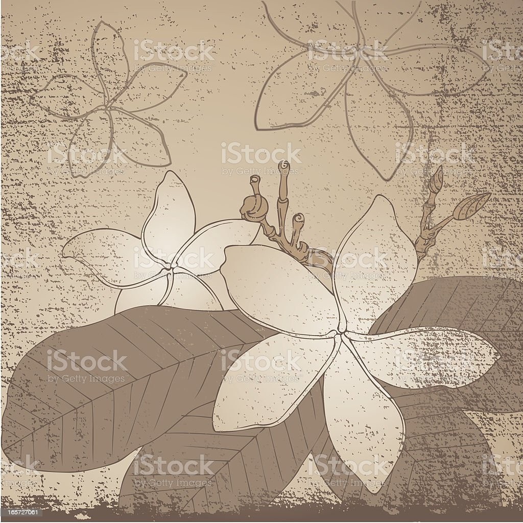 Grunge Flowers royalty-free stock vector art