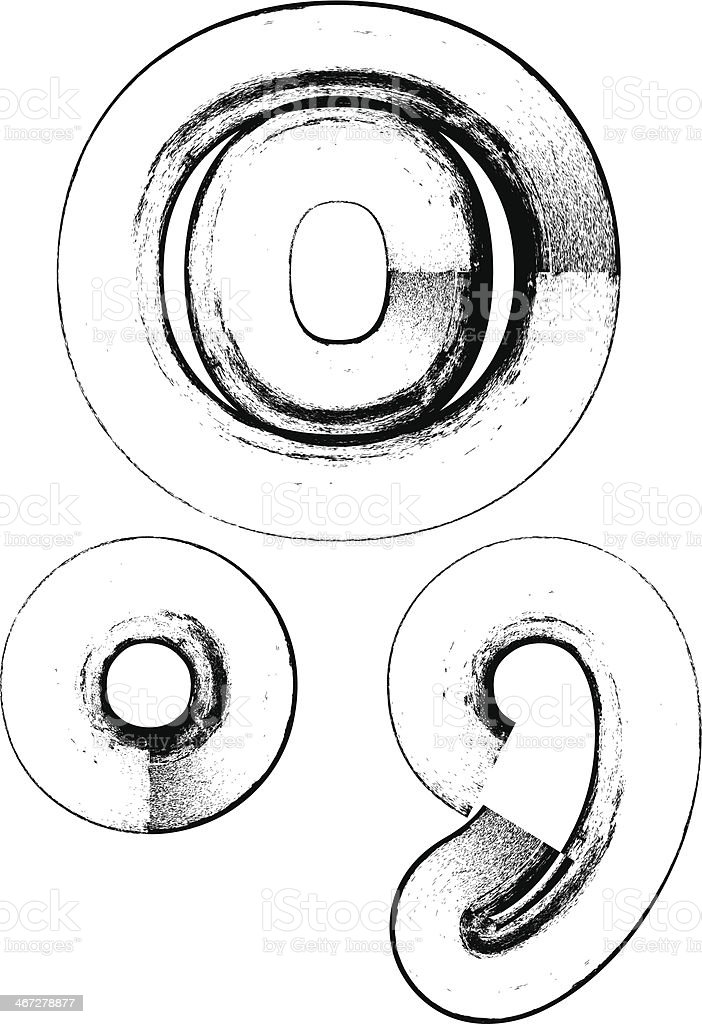Grunge Font Symbol royalty-free stock vector art