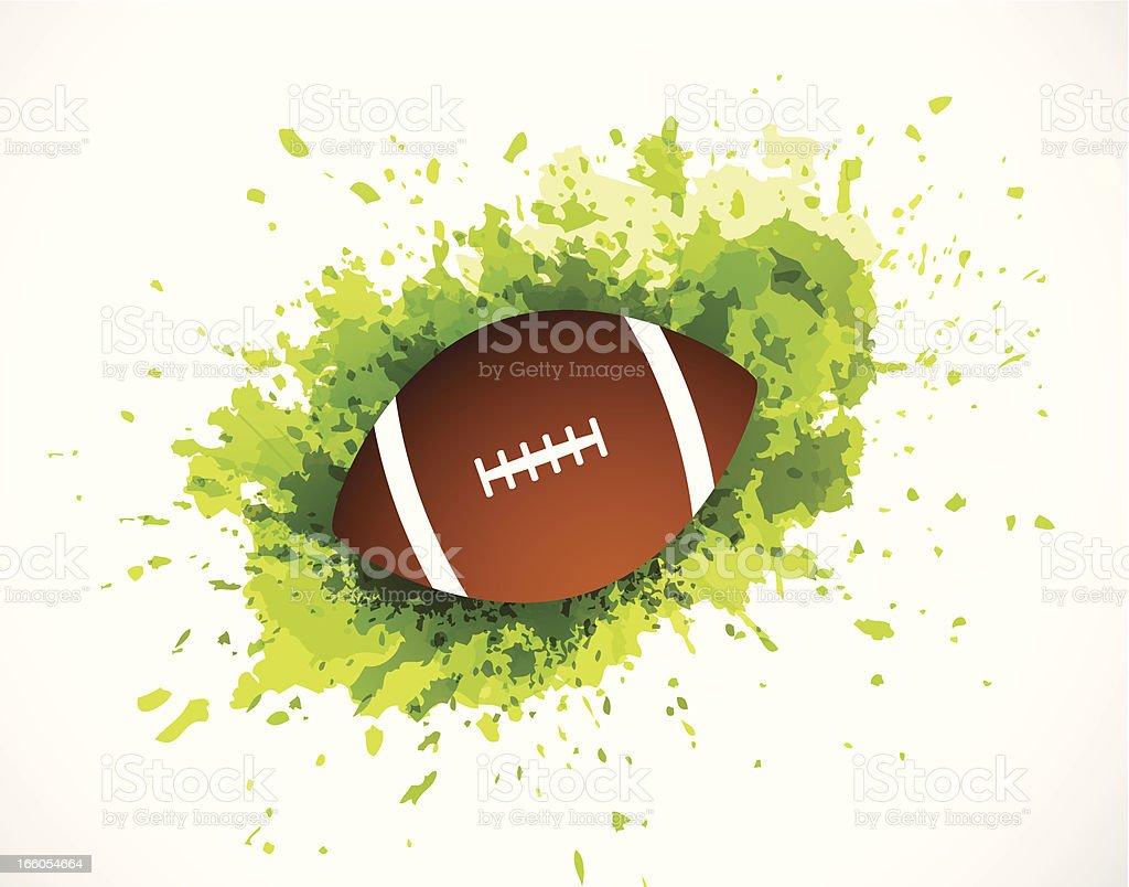 Grunge football royalty-free stock vector art