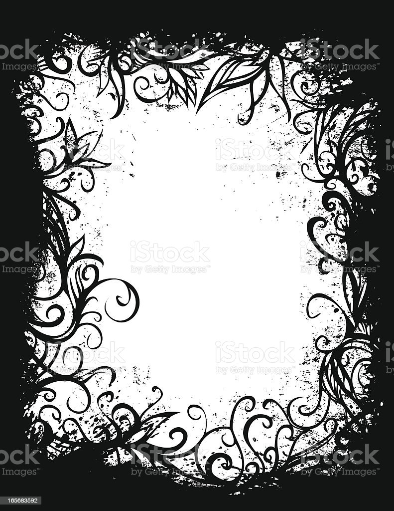 grunge forest frame royalty-free stock vector art