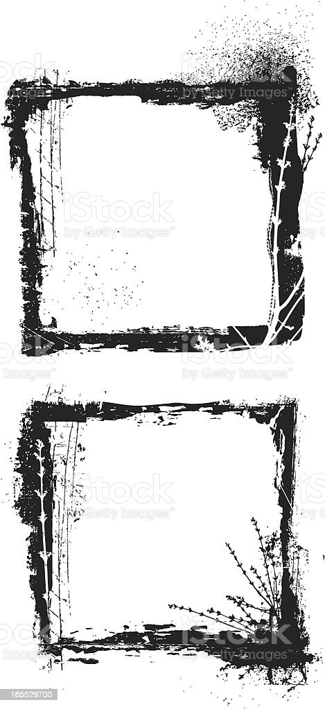 grunge frame set royalty-free stock vector art