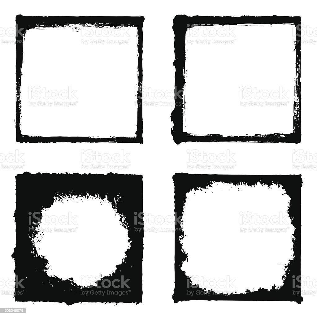 Grunge Frame Set vector art illustration