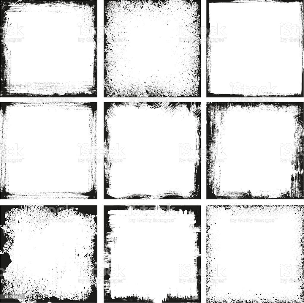 Grunge Frames vector art illustration