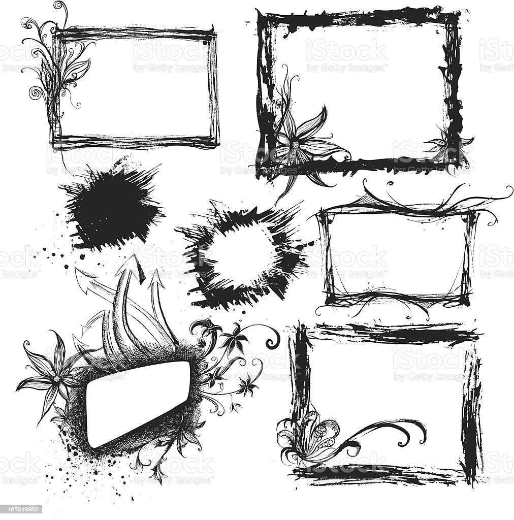 grunge-frames Lizenzfreies vektor illustration